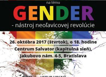 """Prednáška """"GENDER – nástroj neoľavicovej revolúcie"""""""