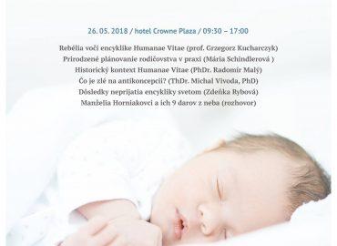 """Pripravujeme konferenciu """"Množte sa a naplňte zem"""" – Humanae Vitae"""